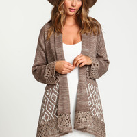 Southwestern Draped Knit Cardigan