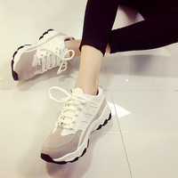 On Sale Hot Sale Comfort Hot Deal Stylish Casual Korean Shoes Patchwork Thick Crust Flat Sneakers [9448880903]