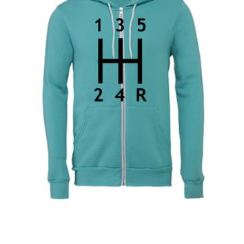 Car - Gearshift - Unisex Full-Zip Hooded Sweatshirt