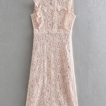 New women's laminated lace dress