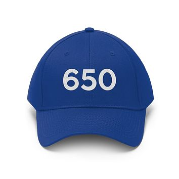 California 650 Area Code Embroidered Twill Hat