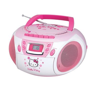 Hello Kitty Stereo CD Boombox with Cassette Player-Recorder and AM-FM Radio