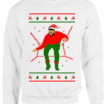 Drake 1800 Hotline Christmas Bling sweaters sweatshirts crewnecks jumpers Drake ugly christmas sweaters tacky ugly xmas sweaters