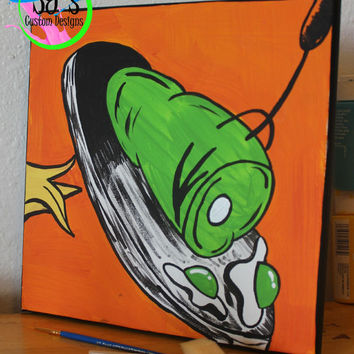 Green eggs and ham painting, Green eggs and ham decoration, Dr.Seuss Nursery, Dr.Seuss wall decoration, Sam I am decoration, Sam I am, ham