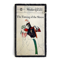 """Milton Glaser paperback book cover design, 1966. """"The Taming of the Shrew"""" by William Shakespeare"""