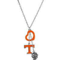 Tennessee Volunteers Open Heart Charm Necklace
