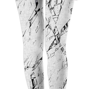 Cracks - cramped paper, abstract girls leggings design, cramped paper pattern on canvas background.