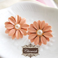 Sunny Daisy Earrings Pink