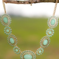 Twinkle In Your Eyes Necklace-Mint