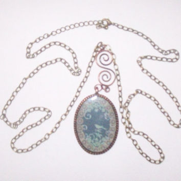 Mother Earth  Copper Pendant Necklace by onsecretwings on Etsy