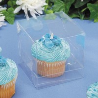 "Darice 12 Piece Cupcake Box, 3.5 by 3.5 by 3.5"", Clear"