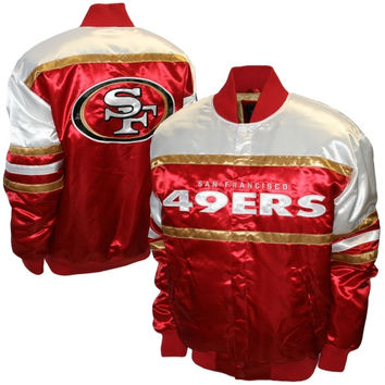 San Francisco 49ers Era Satin Jacket – Scarlet