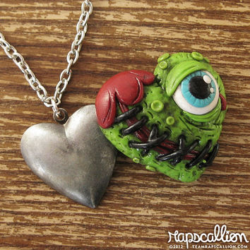 Zombie Eyeball Locket Necklace