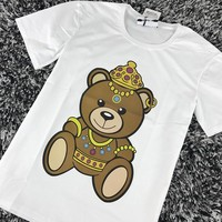 Moschino Women Fashion Cute Bear Tunic Shirt Top Blouse