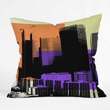 Amy Smith Skyline Throw Pillow