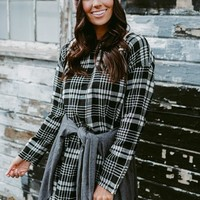 The Harper Raw Hem Plaid Dress