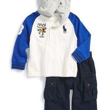 Infant Boy's Ralph Lauren Hoodie & Cargo Pants