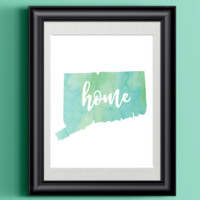 Connecticut Home Watercolor Print | 8.5 x 11 | Wall Decor