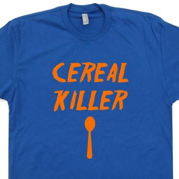 Cereal Killer T Shirt Funny Vintage T Shirts Breakfast T Shirts