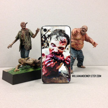 Zombie, The Walking Dead - Iphone 5 4 4s Skin Cover - sticker case