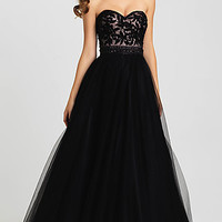 A-Line Strapless Madison James Gown