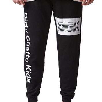 DGK Humboldt Jogger Sweatpants - Mens Pants - Black