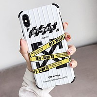 OFF White Fashion Mobile Phone Cover Case For iphone 6 6s 6plus 6s-plus 7 7plus 8 8plus X XSMax XR White