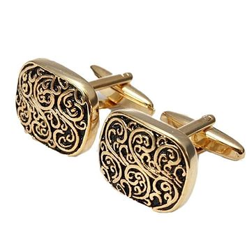 Men's Snazzy Boxed Gold Cufflinks