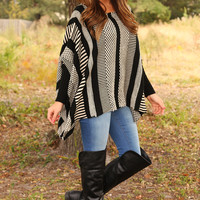 The Rules That Don't Apply Poncho: Black/Cream