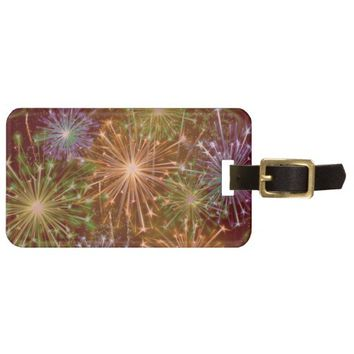 Colorful Haze Sparkling Fireworks Luggage Tag