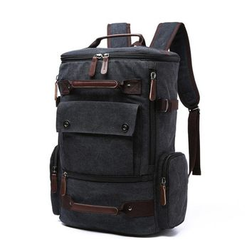 School Backpack trendy Canvas Men Laptop Backpack School Bag Rucksack Bagpack Computer Knapsack Bags Male Notebook Travel Backpacks for Teenage AT_54_4