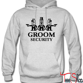 Groom Security Cartoon hoodie