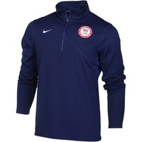 Team USA Nike Performance 1/4 Zip Training Pullover Sweatshirt - Navy Blue