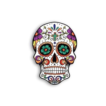 Mexican Sugar Skull Magnet - Calavera Del Dia - Day of the Dead - Skull Magnets