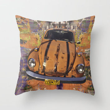 VW ~Bug power Throw Pillow by Bruce Stanfield | Society6