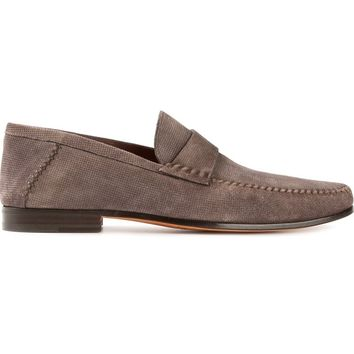 Santoni Textured Loafers