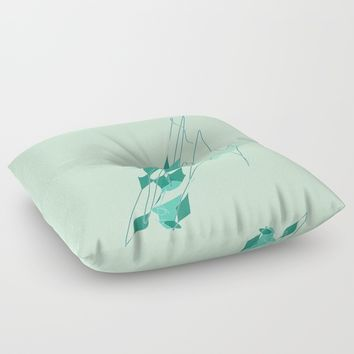 re_3 Floor Pillow by Kristina Kerstner