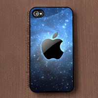 Apple Logo in starry sky Samsung Galaxy s2 case, Galaxy s3, Galaxy s4 S5case, iphone case 4, 4s, iphone 5 5S 5C case, ipod touch 4, 5 case