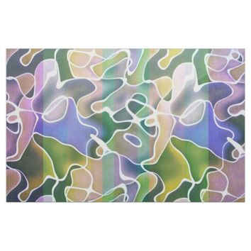 Pastel Abstract Stripes Fabric