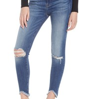 Good American Good Legs Ripped High Waist Skinny Jeans (Blue 123) (Regular & Plus Size) | Nordstrom