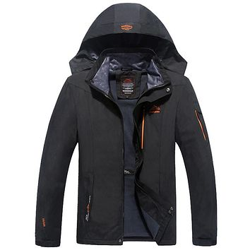 6XL 7XL 8XL Winter Jacket Men Casual Windbreaker Brand-Clothing Warm Parka Male Mountain Jackets Hooded Waterproof CF8868