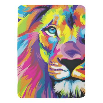 Colorful Lion Baby Blanket