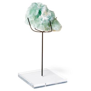 Green Fluorite on Medium Spider Stand, Acrylic / Lucite, Rocks, Crystals, Minerals & Petrified Wood