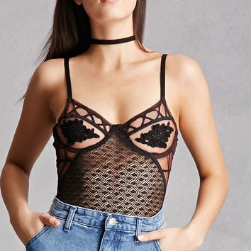 Crochet Caged Cheeky Bodysuit