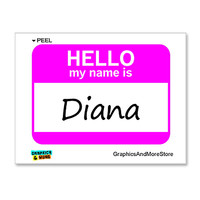 Diana Hello My Name Is Sticker