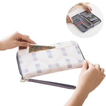 CREYCI7 White Travel Passport Cover Boarding Coin Wallets ID Credit Business Card Trip Holders Key Storage Organizer Bag Accessories