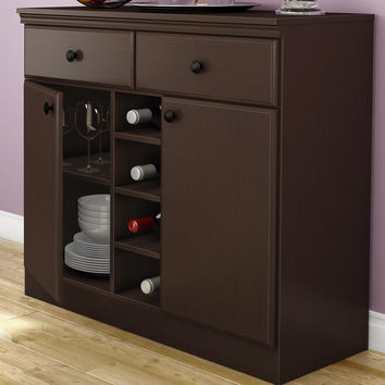Cool Console Table Sideboard With Storage Drawers In Chocolate.