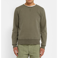 Officine Generale - Washed Loopback Cotton-Jersey Sweatshirt | MR PORTER