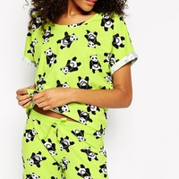 ASOS Ghetto Panda Pyjama Tee & Legging Set