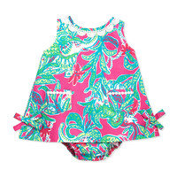 Baby Lilly Shift Dress, Capri Pink, 3-24 Months - Lilly Pulitzer - Capri pink trunk